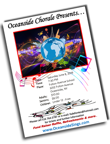 Holiday Singing Concert Oceanside Long Island NY 2018 Program -  The Oceanside Chorale Singing Oceanside NY